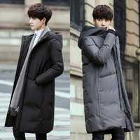 Moda Casual hombres chaqueta de invierno nuevo M-3XL Color sólido con Cap algodón negro gris personalidad Juventud popular