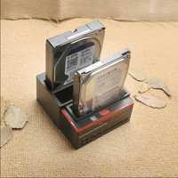 Nouveau support de disque dur 3 emplacements 2 ports USB Base de disque dur multifonction pour lecteur de carte