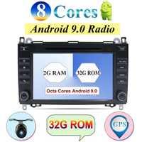 32G Android 9,0 2 Din WIFI coche DVD GPS Radio para Mercedes Benz Clase B B200 una clase W169 w245 Viano Vito W639 Sprinter W906