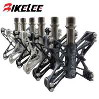 Venta caliente ultraligero 80g pedales de bicicleta de montaña BMX MTB Road ciclismo magnesio pedales plataforma CNC titanio Ti eje Spd pedales