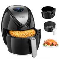 Friteuse à Air électrique numérique multifonction GBlife 1500W pour frire griller torréfaction 7 Menus rapides caf1500p-D2 friteuse