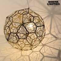 Iluminación interior hueco bola de acero inoxidable iluminación sombra de lámpara colgante Tom Dixon diseño colgante iluminación pantallas de lámparas