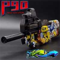 P90 Graffiti pistola eléctrica de juguete pistolas divertidas al aire libre juguetes niños Live CS arma de asalto pistola de agua suave niño regalo