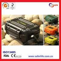 Envío Gratis portable plástico Seguridad y supervivencia impermeable hermético pequeño viajes caja de almacenamiento caja