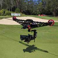 Cablecam linecam sistema ojo de águila Cámara estroboscópica equipo de disparo de vídeo profesional