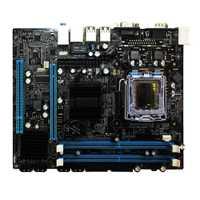 Alta calidad G31 ordenador placa base de doble núcleo 771 Mainboard LGA 775 771/775 Consejo Dual DDR2 VGA alta compatibilidad