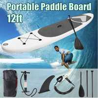 SGODDE 365*83*15 cm 12ft inflable portátil Surfing Fin Surf Stand Up Paddle Board