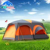Equipo al aire libre de 8 personas, 10 personas, 12 personas dos habitaciones y una sala de camping viento lluvia multi- persona carpa grande