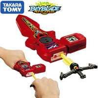 Original TOMY Beyblade estalló lanzador B-94 DIGITAL espada lanzador rojo derecha izquierda rotación doble bey blade juguete para los niños