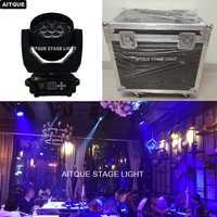 (6 luces + caso) equipos discoteca led cabeza móvil wash 19x12 W lavado zoom luz móvil 12 W iluminación principal móvil lavado flycase