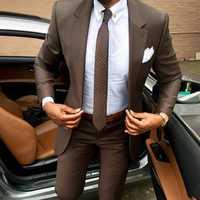 2019 dernier manteau pantalon conceptions marron hommes costume Slim fit élégant tuxedos de mariage entreprise fête robe d'été veste + pantalon terno