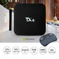 TX6 IPTV Box Allwinner H6 HDR 4 K Android TV 9,0 Ultra HD 4G 64G Dual Wifi 2,4 g/5G WIFI BT5.0 Set top Box Media Player