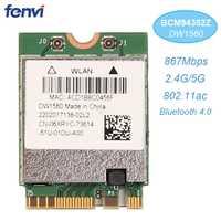 Sans fil AC1200 Broadcom BCM94352Z DW1560 867Mbps BT 4.0 802.11ac NGFF M.2 WiFi WLAN carte pour ordinateur portable fenêtre Mac Hackintosh OS