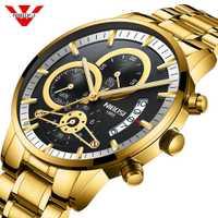 NIBOSI Hombres Relojes de Primeras Marcas de Lujo Reloj De oro Los Hombres Masculino Relogio Del Ejército Militar de Cuarzo Analógico Reloj de Pulsera negro blanco azul