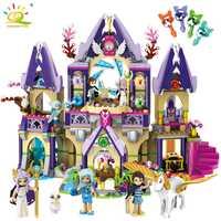 817 piezas Príncipe magia misteriosa Sky Castle Building Blocks Compatible Legoed amigos elfos figuras juguetes educativos para niños
