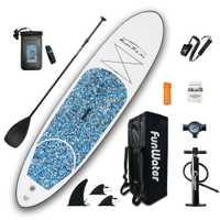 Planche de Surf gonflable Stand Up Paddle planche de Surf Kayak set 10'x30''x4''avec sac à dos, laisse, pompe, sac étanche