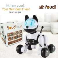 Control de voz electrónica mascotas robot inteligente interactivo danza canta walking cachorro acción con detección gesto Juguetes Kid regalo