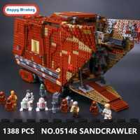 Legoingly estrella guerra desierto Creeper Sandcrawler 05146 bloques de construcción ladrillos juguetes educativos regalos 1388 piezas regalo para niños GK30