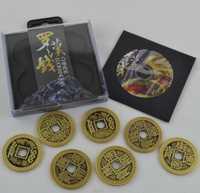 Chino LuohanQian (tamaño como Morgan moneda 38mm) deluxe chino moneda antigua de trucos de magia que aparecen/desaparición cerca de Prop