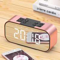 Bluetooth espejo Led de alarma de reloj Digital siesta hablando noche Nixie electrónica reloj de escritorio Luz de Despertador Digital Led 40N0082