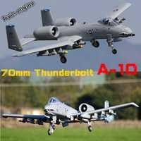 FMS 70mm acondicionado ventilador FED Jet A-10 A10 Thunderbolt II de doble motor 6CH 6 S EPO PNP RC avión modelo Hobby avión