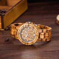 UWOOD vestido cuarzo relojes hombres Natural Eco madera Japón movimiento Casual Hombre reloj Auto Calendario mariposa hebilla