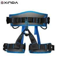 XINDA Camping ceinture de sécurité escalade en plein air élargir la formation demi-corps harnais fournitures de protection équipement de survie