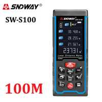 SNDWAY Digital telémetro láser Color Rechargeabel 100M-70M-50M telémetro láser metro de distancia envío gratis