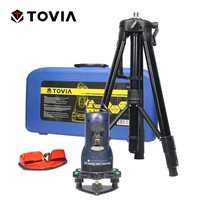 TOVIA láser fundido instrumento 2 Línea 1 punto giratorio de 360 grados 650nm trípode nivel láser herramientas de construcción