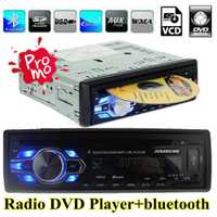 Nuevo coche radio DVD VCD CD MP3 bluetooth auto reproductor audio estéreo bluetooth teléfono AUX-IN FM USB 1 Din 5 V cargador en el tablero de 12 V