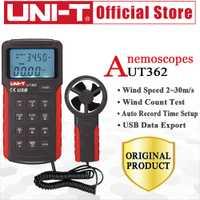 UNI-T UT362 anemómetro velocidad del viento probador Conde viento medición unidad interruptor LCD retroiluminación USB transmisión de datos temperatura