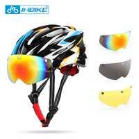 2018 nuevos cascos de bicicleta mate negro hombres mujeres casco de bicicleta luz trasera bicicleta de carretera de montaña integralmente moldeado cascos de ciclismo