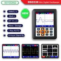 O120 DSO338 NANO PRO 30 MHz 200MSa/s Mini portátil de bolsillo de tamaño de IPS LCD osciloscopio Digital
