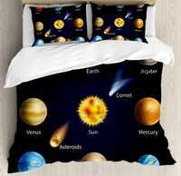 Educativos Fundas nórdicas realistas Sistema Solar planetas y objetos espaciales asteroides Comet universo espacio