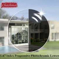 Chashma marca Delgado Verifocal transición 1,67 índice Interior Multifocal campo salvaje lentes progresivas fotosensibles