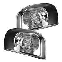 1 par L & amp R Luz de esquina de señal de giro lateral para Vo-lvo S80 1999-2006 luz de señal de giro 30655423 derecha izquierda sin bombilla