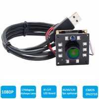 Ayuda de alta velocidad 2MP CMOS OV2710 módulo amplio ángulo de visión de ojo de pez UVC Android Linux IR Led de visión nocturna HD cámara USB 1080 p