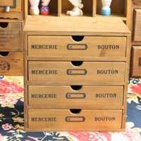 Tssaag cajón household Essentials cajón pecho de almacenamiento de madera Oficina escritorio organizador Nueva Zelanda Pino tres tipos