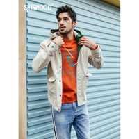 SIMWOOD 2019 Printemps Nouvelle veste de mode Hommes Shorts vestes décontractée 100% manteaux en coton Poche qualité supérieure Marque Vêtements 190092