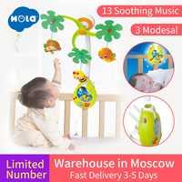Bébé Rotation Musical Jungle Bébé Mobile Nursery Lit/Berceau Mobile Multi Fonction avec des Lumières et Musique Boîte Enfants Jouer jouet de dessin animé