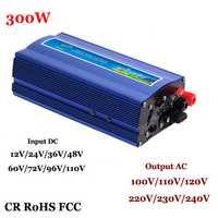 300 W fuera de la red inversor 60/72/96/110VDC AC110V a/220 V onda sinusoidal pura inversor de energía solar o eólica sistema de energía de potencia 600 W