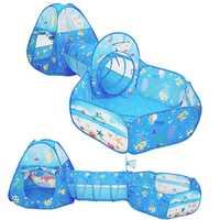 Plegable túnel carpa PISCINA DE BOLAS de juguete pozos serie océano dibujos animados juego casa gateando portátil juguetes para niños bebé niños