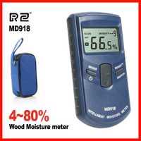 RZ alta precisión inductivo madera medidor de humedad higrómetro Digital probador eléctrico herramienta de medición MD918