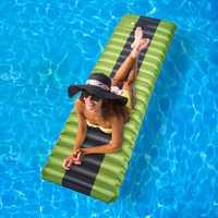 Nuevo inflar el colchón inflable para acampada almohadilla para dormir al aire libre de humedad de aire inflable colchón de natación piscina flotante Pad