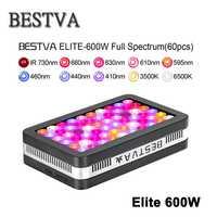 BestVA led grow light full spectrum Elite 600 W lámpara para PLANTAS INTERIOR grow led grow tienda invernadero hidropónico rojo/azul/UV/IR