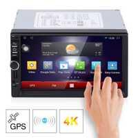 RK-7721A panel Led luz profesional de 7 pulgadas HD pantalla capacitiva 7 colores de luz coche DVD MP3 jugador Mapa Europeo