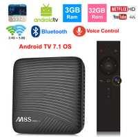 M8S PRO L inteligente TV BOX caja de la TV Android OS google control de voz S912 Octa core 3 GB 32 GB bluetooth 2,4g/5g Dual WIFI 4 K TV set top box