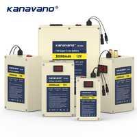 12 V portátil Super Capacidad batería recargable de iones de litio paquete 10ah 20ah 30ah Li-ion LiFePO4 celular con USB BMS envío Gratis