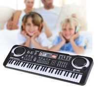61 Teclas de Música Digital Regalo Teclado Electrónico Piano Eléctrico Juguetes Educativos Instrumentos Musicales Profesionales