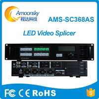 Procesador de empalme profesional AMS-SC368AS led SDI vga video switcher sin costuras programable led super TV controlador